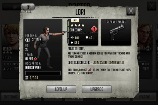 Walking Dead Road to Survival Elite Lori