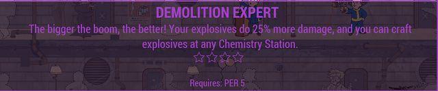 Fallout 4 Demolition Expert perk
