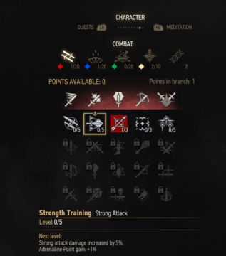 witcher 3 strong attack skill tree