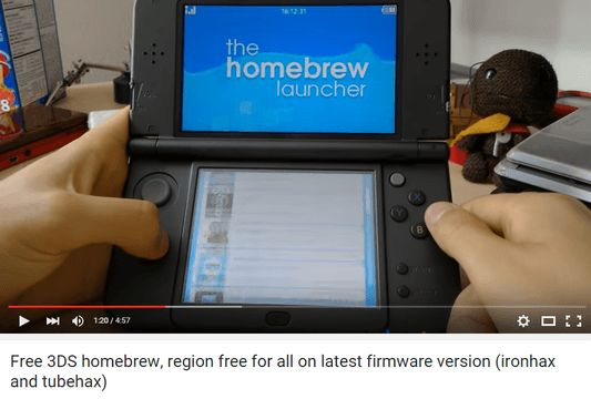 Homebrew 3DS exploit: play Portal on your 3DS via YouTube app