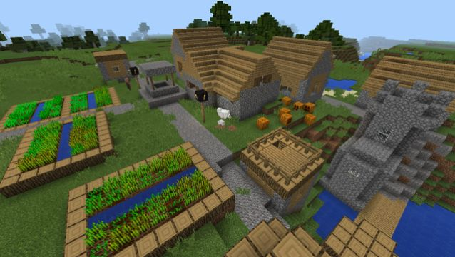bachilleres seed spawn next to pumpkin village