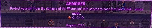 Fallout 4 armorer perk