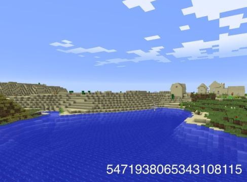 Minecraft seed for desert lovers; spawns near an underwater temple.