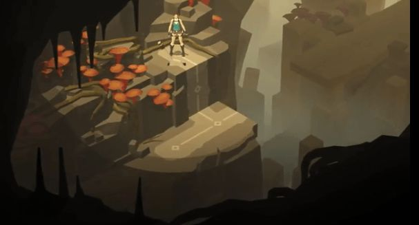 Gameplay from Lara Croft Go, an upcoming mobile game announced at E3.