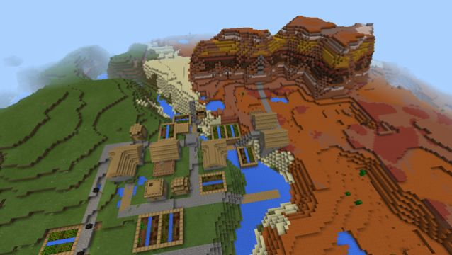 shadowscythe spawn next to mesa village seed river