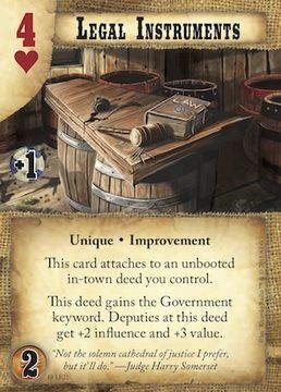 Legal Instruments Doomtown Frontier Justice preview