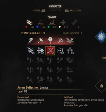 witcher 3 defense skill tree