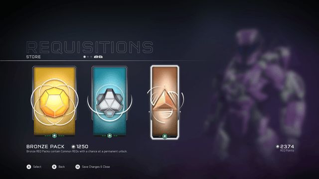 Halo 5 REQ packs