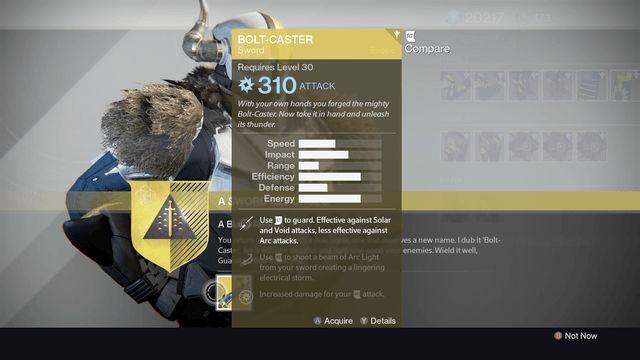 destiny exotic sword bolt-caster