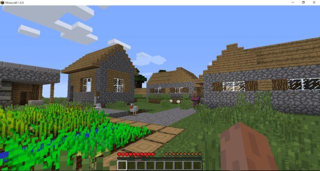 minecraft 1.8 village seed at spawn