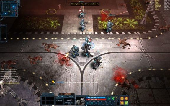 Screenshot of Red Solstice gameplay.