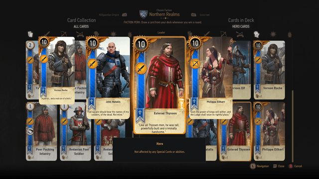 gwent how to build and play a northern realms deck