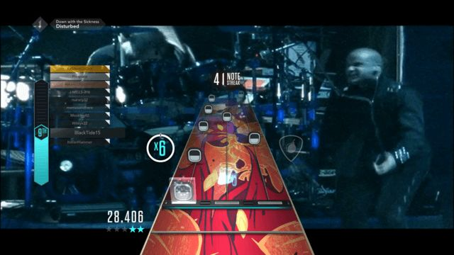 Disturbed Down With The Sickness GHTV Guitar Hero Live Bar Chords