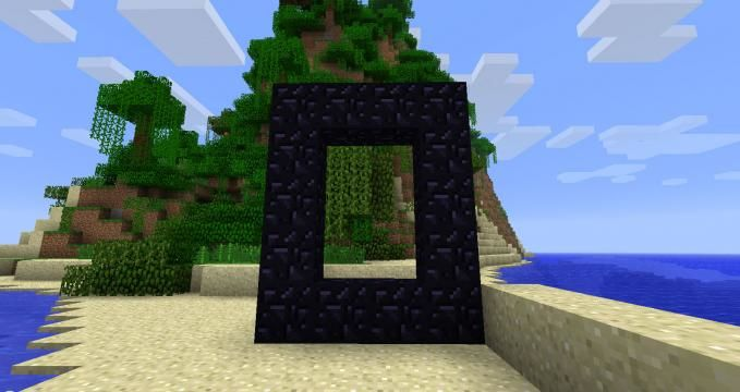 unlit nether portal