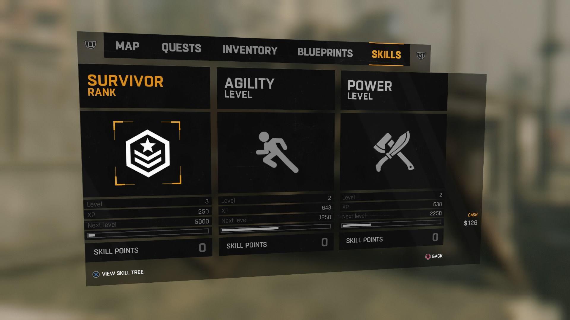 dying light leveling agility
