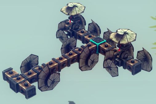 Besiege - Building Guide to an Easy to Use Flying Machine