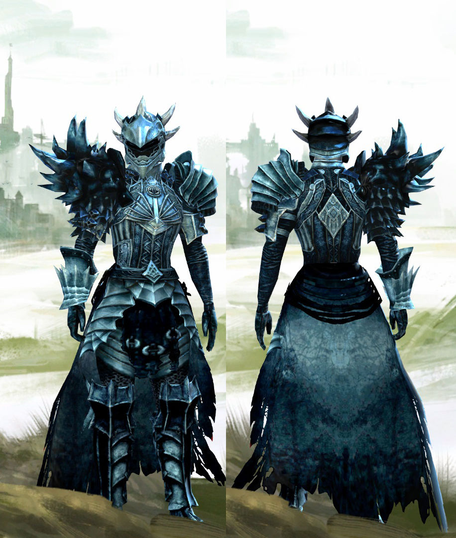 GW2 Fashion - The Melodic Crow, Warrior of the Fractals | Guild Wars 2