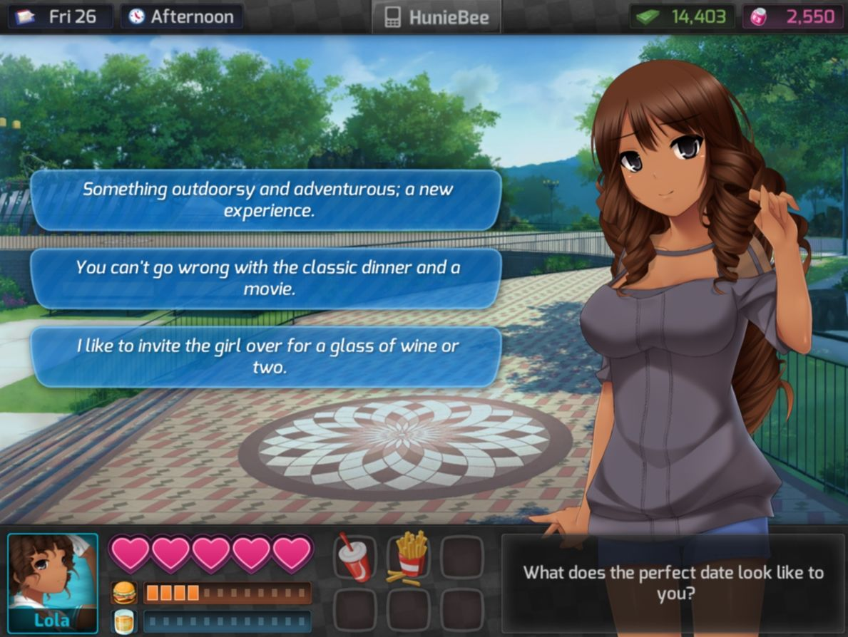 Dating simulator games