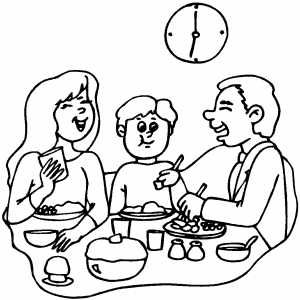 coloring pages dinner - photo#10