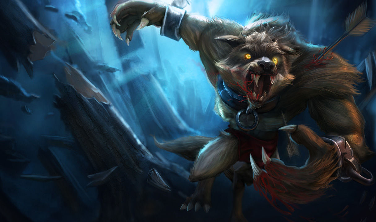 league of legends how to clear raptors with warwick