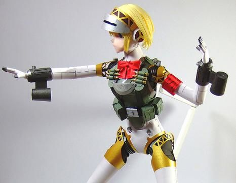 This Papercraft From Persona 3 Doesnt Even Come A Template Aegis Is Shown Here As Fully Poseable That Register In My