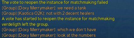 origin matchmaking failed