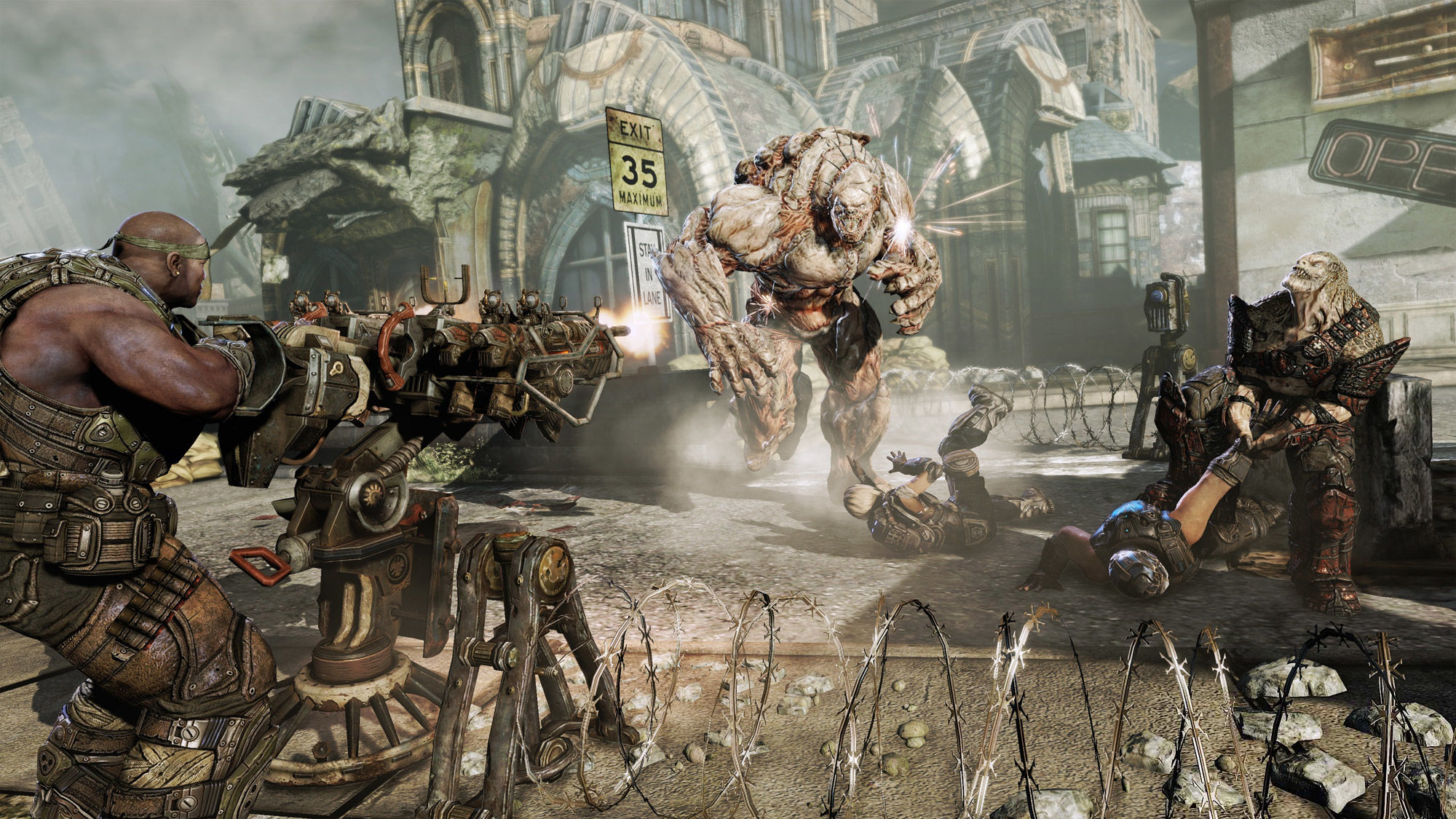 drone star wars with Gears Of War 3 Review Focused Narrative And Tremendous Gameplay on Monster Man Beh together with Gears Of War 3 Review Focused Narrative And Tremendous Gameplay together with Viewtopic likewise Disney Is About To Pit Its Biggest Resort Against Its Own Worst Performing Resort besides Power Armor 473064487.