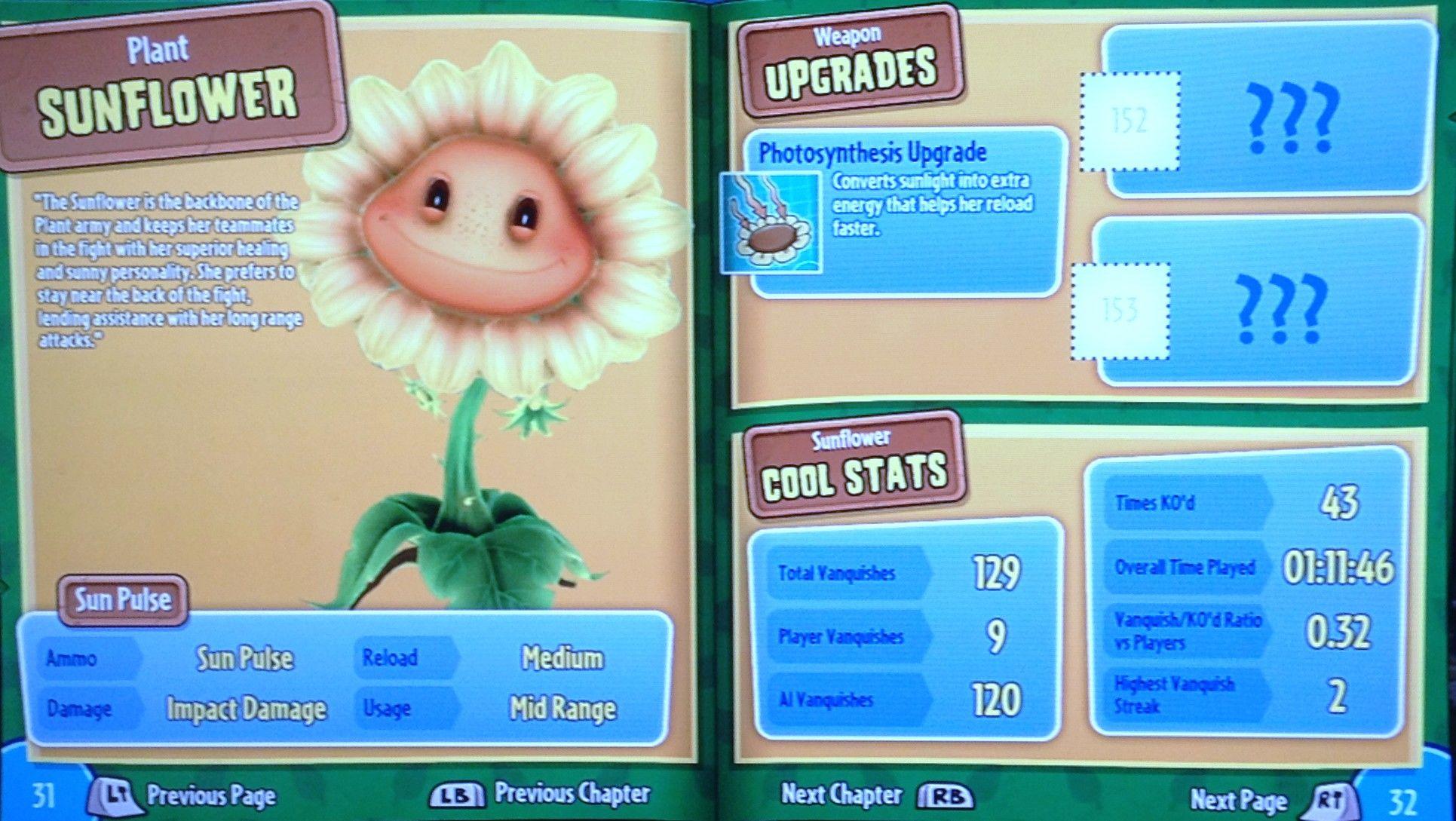 Plants vs Zombies Garden Warfare: Sunflower Guide   Plants