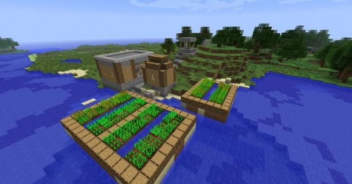 the best minecraft seeds for lazy people minecraft hanging gardens minecraft project - Minecraft Pe Garden Ideas