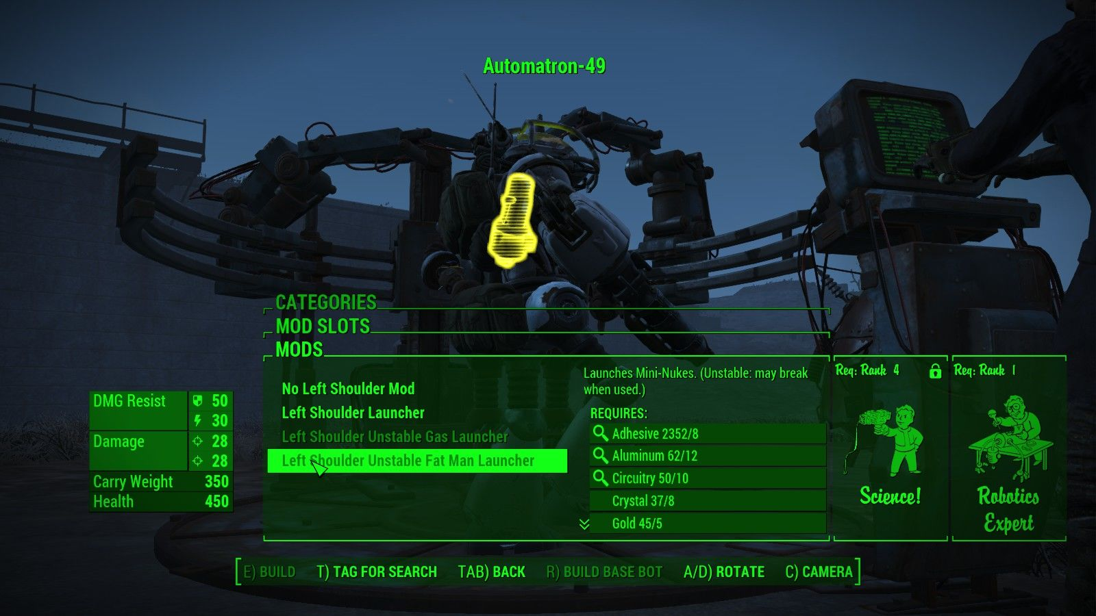 Groovy Fallout 4 Automatron Robot Crafting Guide Gmtry Best Dining Table And Chair Ideas Images Gmtryco