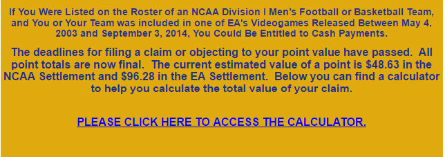 College athletes file a lawsuit saying: 'EA betta have my