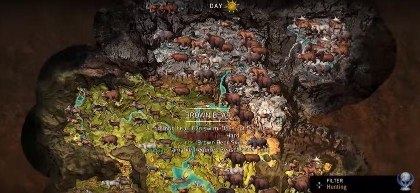 far cry primal all animals list