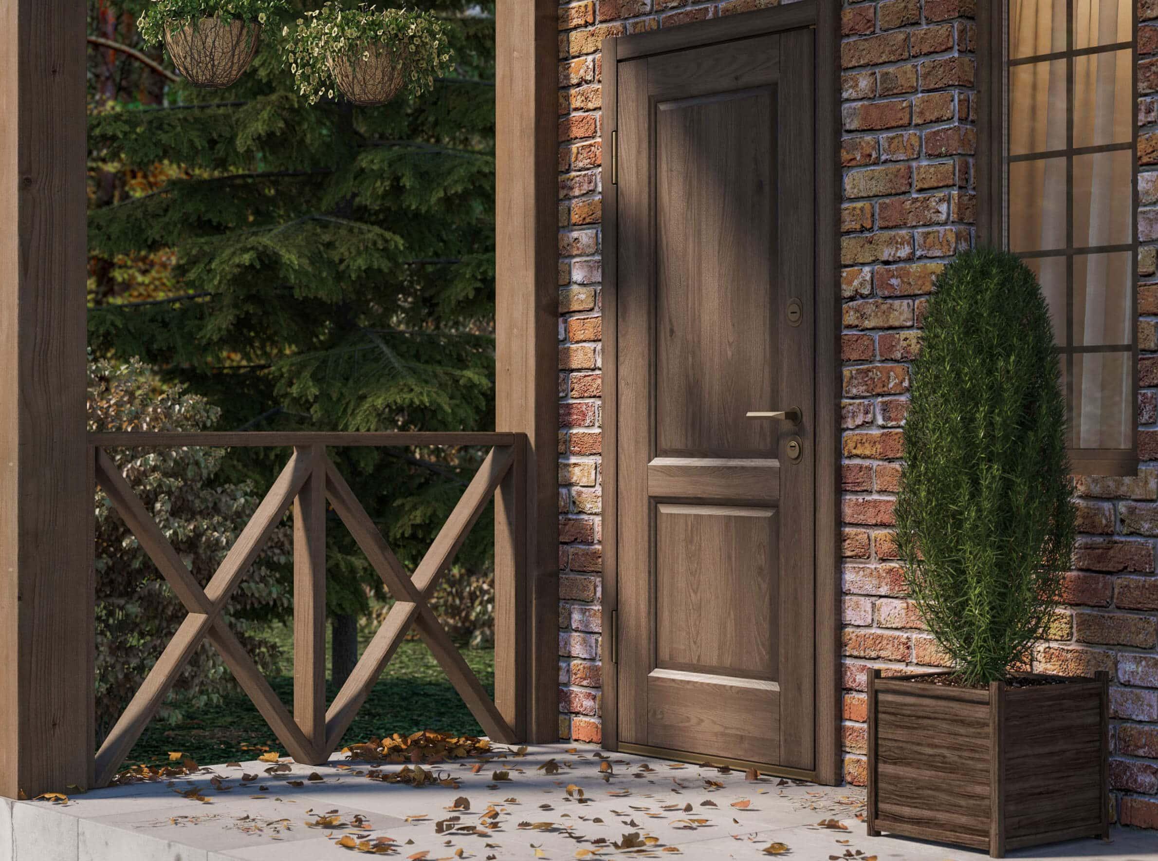 Пример входной двери 9