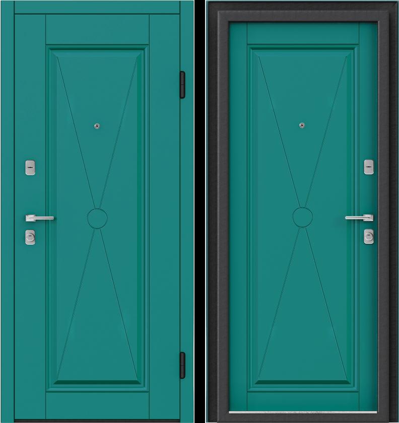 Вариант двери: Эмаль, бирюзовый