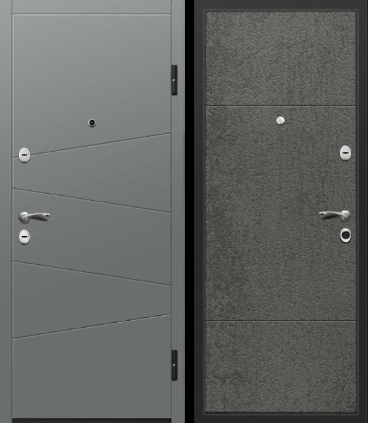 Вариант двери: Металл, коричневый и МДФ, камень тёмный