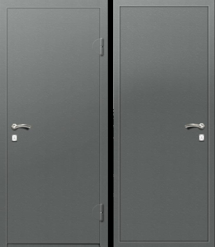 Вариант двери: Эмаль, серая гладкая
