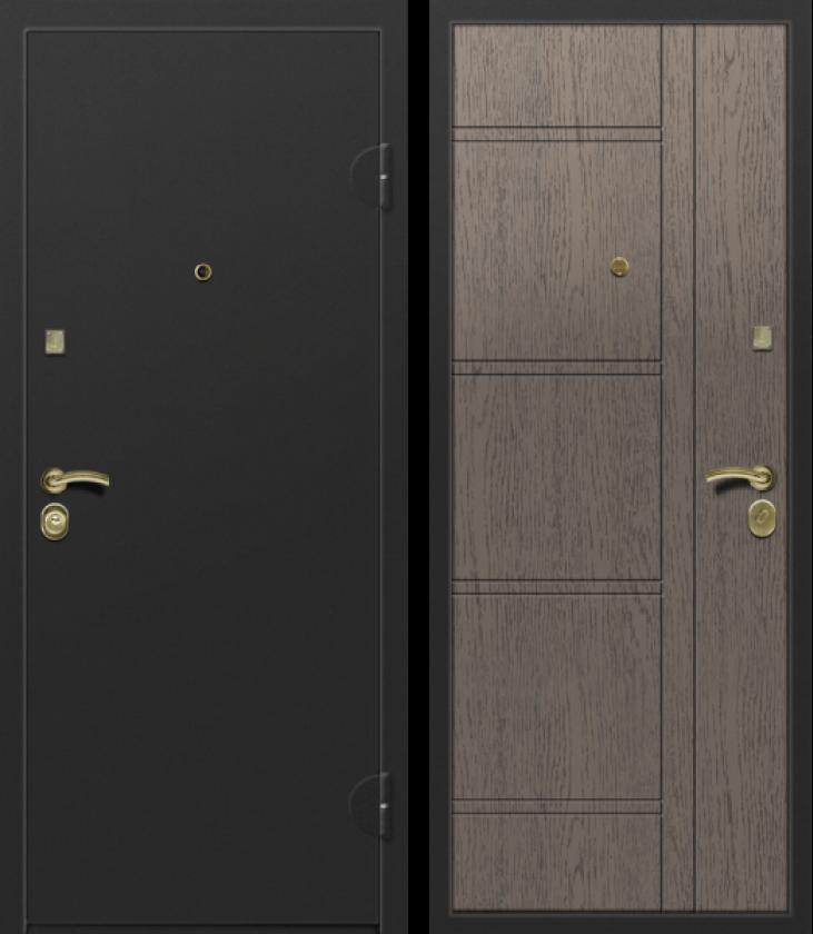 Вариант двери: Металл, чёрный и МДФ, дуб санремо грэй