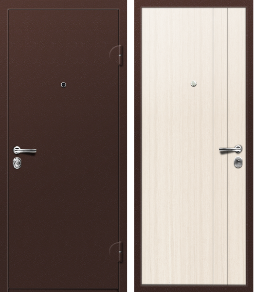 Вариант двери: Металл, коричневый и МДФ, сандал белый линии
