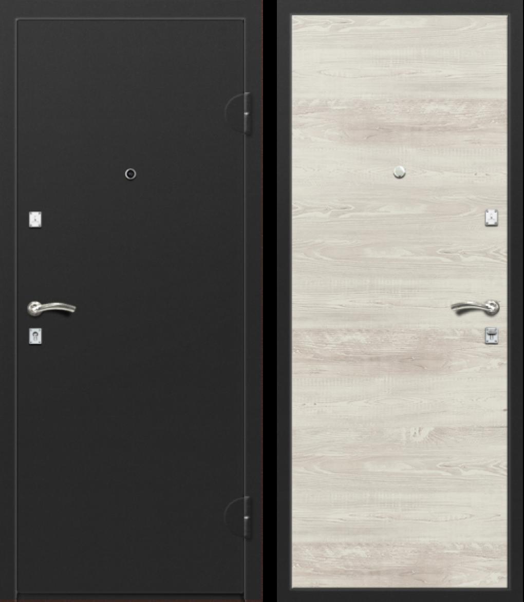 Вариант двери: Металл, чёрный и МДФ, сандал белый