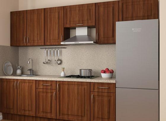 Кухня, состоящая из модульных шкафов