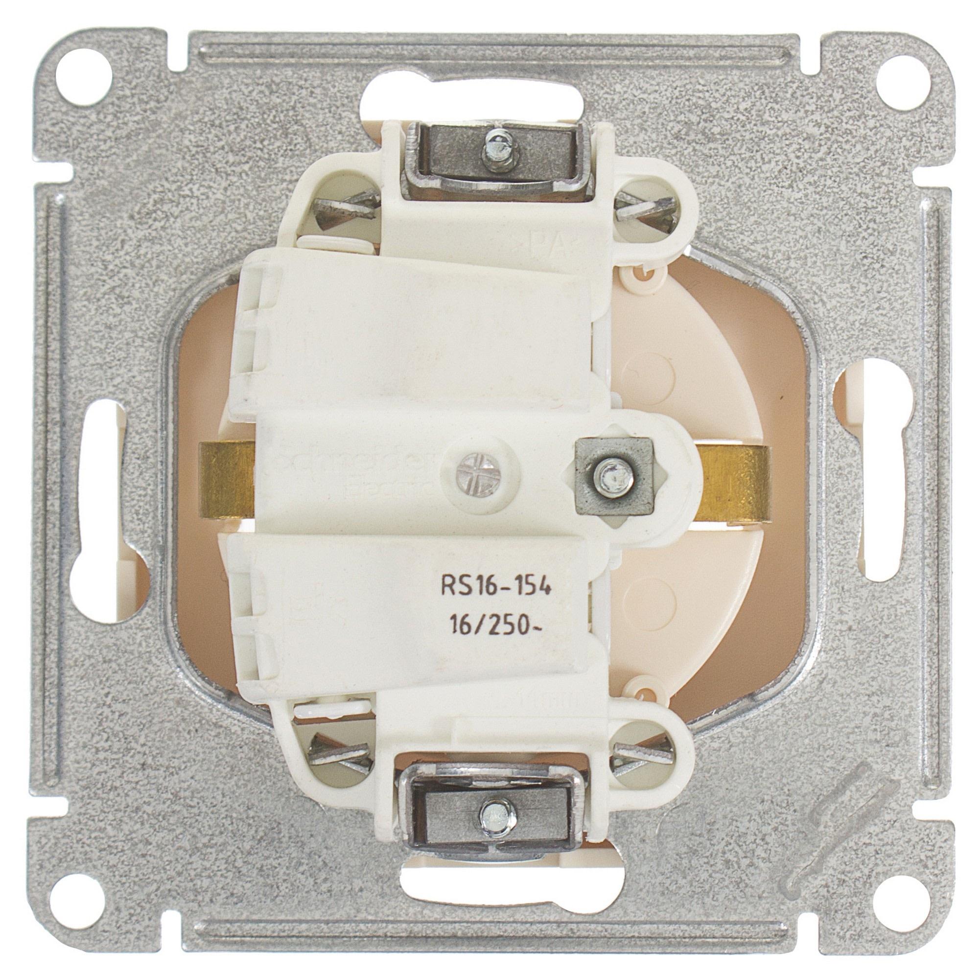 deab1cca91c1 Розетка Schneider Electric W59 с заземлением, цвет слоновая кость в ...