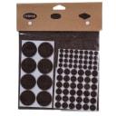 Набор накладок защитных для мебели, фетр, цвет тёмно-коричневый, 175 шт.