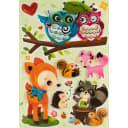 Наклейка 3D «Лесные зверята» RCA0551