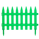 Штакетник «Частокол» 3 м цвет зелёный