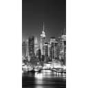 Фотообои флизелиновые «Ночная панорама» 100х200 см