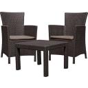 Набор садовой мебели Keter Rosario полиротанг коричневый: стол и 2 кресла