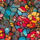 Плёнка самоклеящаяся «Витраж Сад», 0.45х2 м, цвет мультиколор