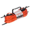 Удлинитель-шнур на рамке без заземления 1 розетка, 2х1 мм2, 30 м