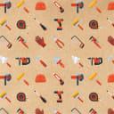 Бумага упаковочная крафт «Инструменты» 50х70/2 листа