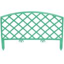 Забор декоративный «Плетёнка», 3.2 м, цвет зелёный